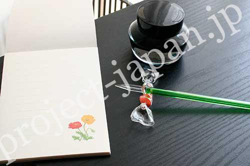 glass pen, chopstick rest for pen rest