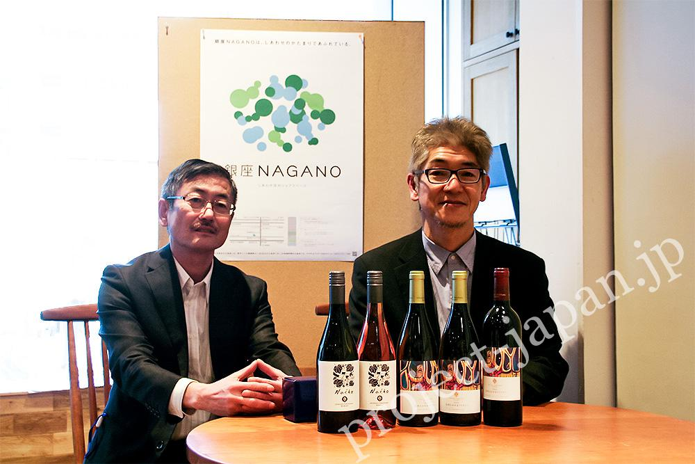 Mr. Kazuaki Wakui, the president (left)/ Mr. Eiichi Takano, the chief executive brewer (right)