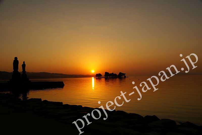 The Shinji Lake, the biggest lake in Shimane pref.
